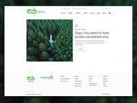 Outdoor Creations website - 404 page