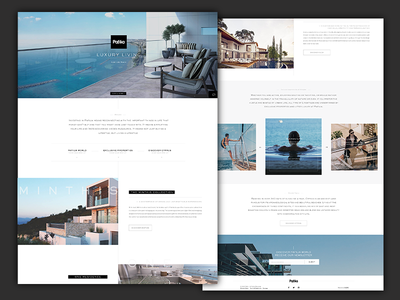 Property developer website concept design