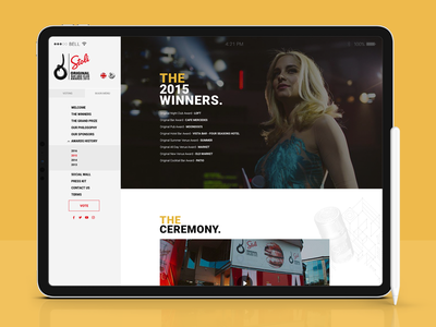 Stoli Original Bar & Club Awards 2016 - Web Design & Development