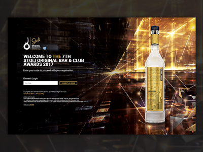Stoli Original Bar & Club Awards 2017 - Web Design & Development