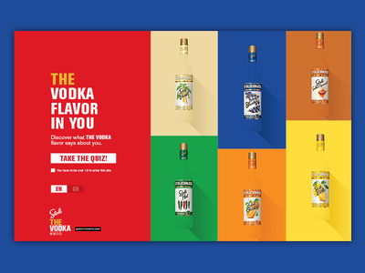 The Vodka Flavor in You #2 campaign promotional web design web interactive game question material design card design viral microsite alcohol stolichnaya stoli vodka
