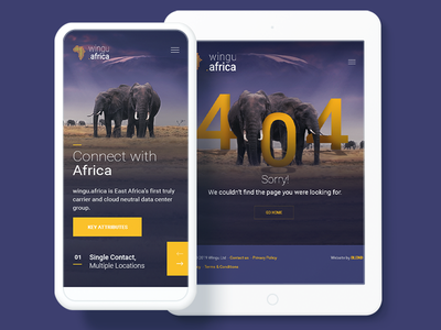 Wingu.Africa - 404 error page design animals error 404 africa