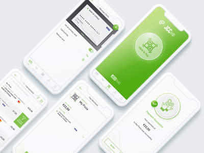 JCCup - Mobile Payment App Design & Icons Illustration