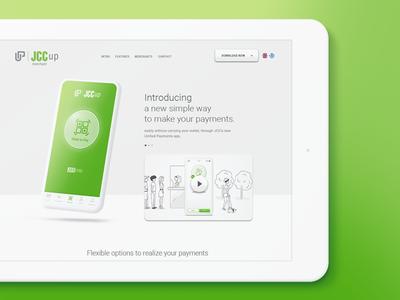 JCCup - Promotion Landing Page App Design web design website long scroll one page landing page ux ui user interface mobile app app app design