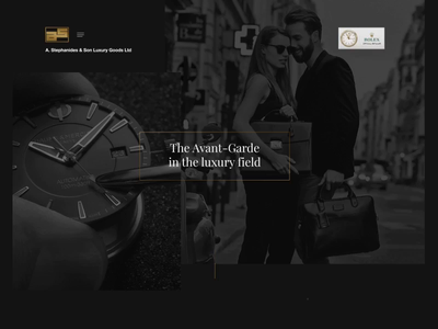 Stephanides Luxury Goods - Web Experience Demo effect parallax animated video jewllery shop class style minimal dark fashion glamnour luxury elegant black watch