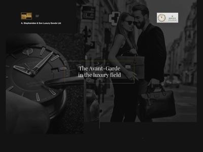 Stephanides Luxury Goods - Web Experience Demo effect parallax animated video jewllery shop class style minimal dark fashion glamnour luxury elegant black watch