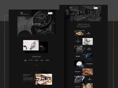 Stephanides Luxury Goods - Web Design Layouts effect parallax animated video jewllery shop class style minimal dark fashion glamnour luxury elegant black watch