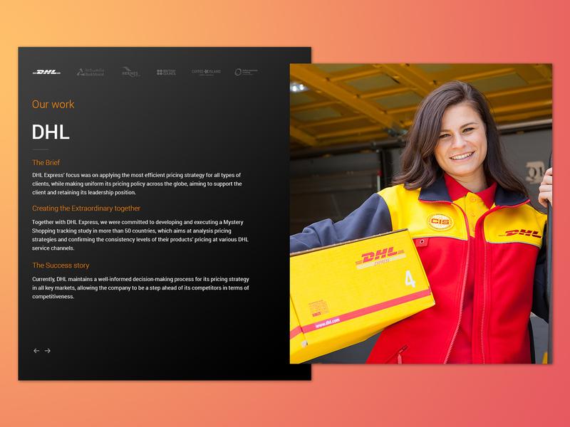 Case studies slider dhl layout design snapshot clients portfolio carousel cases case studies case slider