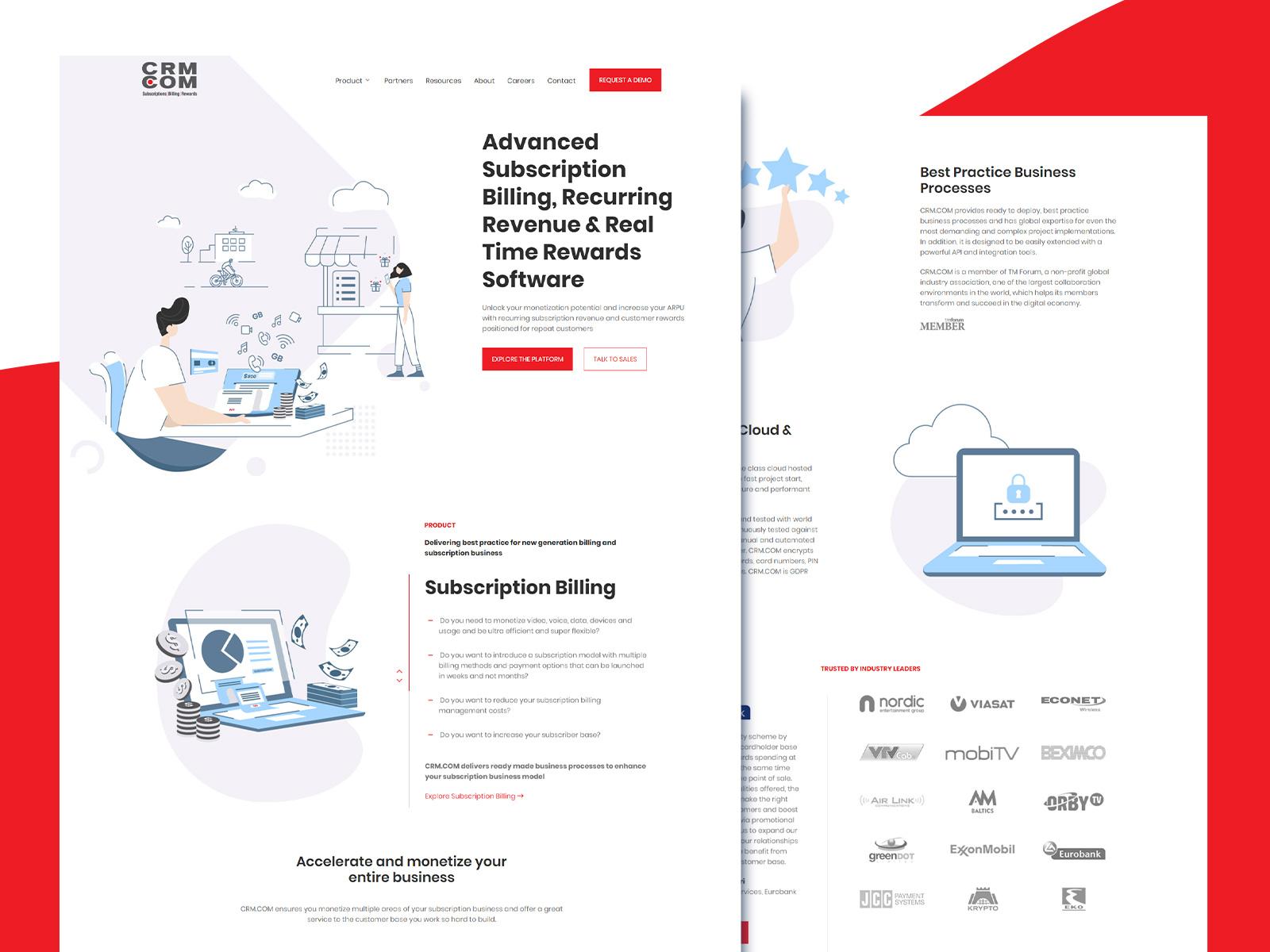 Illustrated Web Design Web Development For Crm Com By Blend Digital Agency On Dribbble