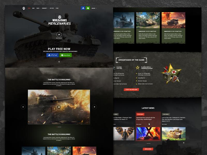Wargaming – World of Tanks: Mercenaries - Web Design & Web Dev responsive mobile web development website xbox playstation war dev web web design video game gaming tank worldoftanks wargaming