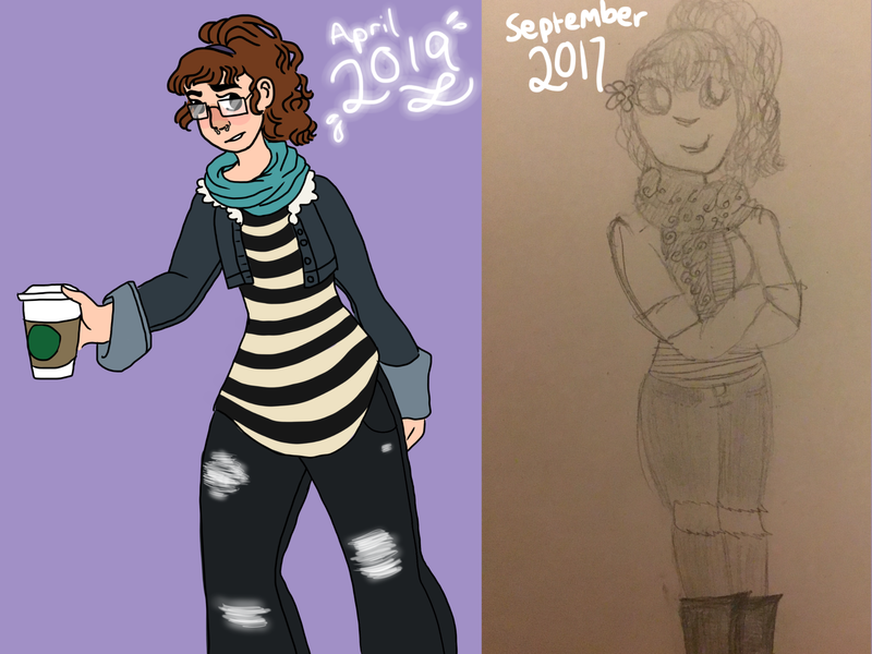 Eva (draw this again challenge) character illustration