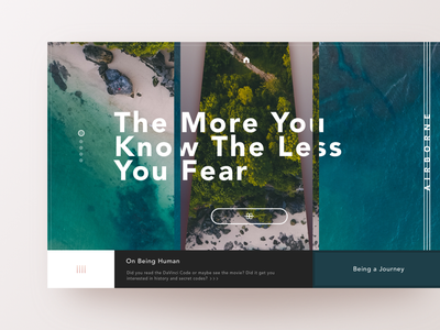 The More You Know The Less You Fear ui ux design interface website webdesign landing graphicdesign minimal webdesigner uidesign sketchapp