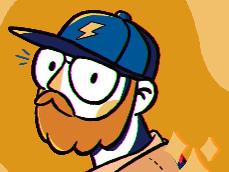 Self portrait color illustration ilustración