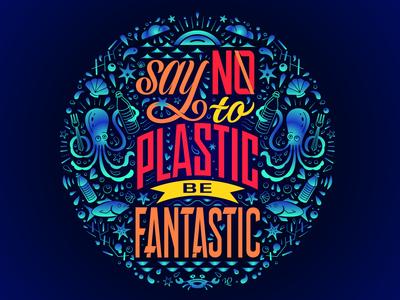 Fight Plastic Illustration