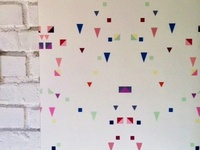 Scattered shapes wallpaper by Design Mate