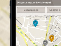 Monumente Romania iPhone map screen