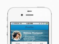 Profile screen full