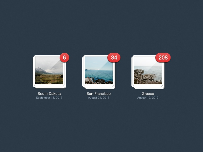 Gallery View - free PSD graphic design user interface ui gallery photos free psd