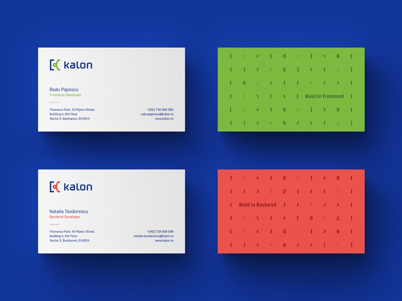 Business Cards symbol k letter digital pattern green red stationery identity business cards graphic design