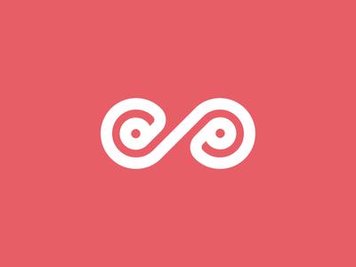 Infinit Mark shape white liniar infinit mark symbol graphic design