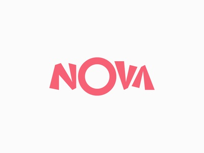 Nova Identity logotype custom type letters identity logo graphic design