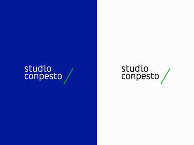 Studio Conpesto type green studio identity logo graphic design