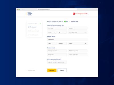 Info Page Layout responsive menu blue digital visual design info page layout web graphic design
