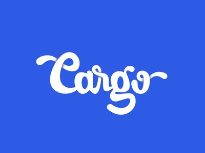 Cargo Lettering blue logo design custom letters type hand letters lettering graphic design