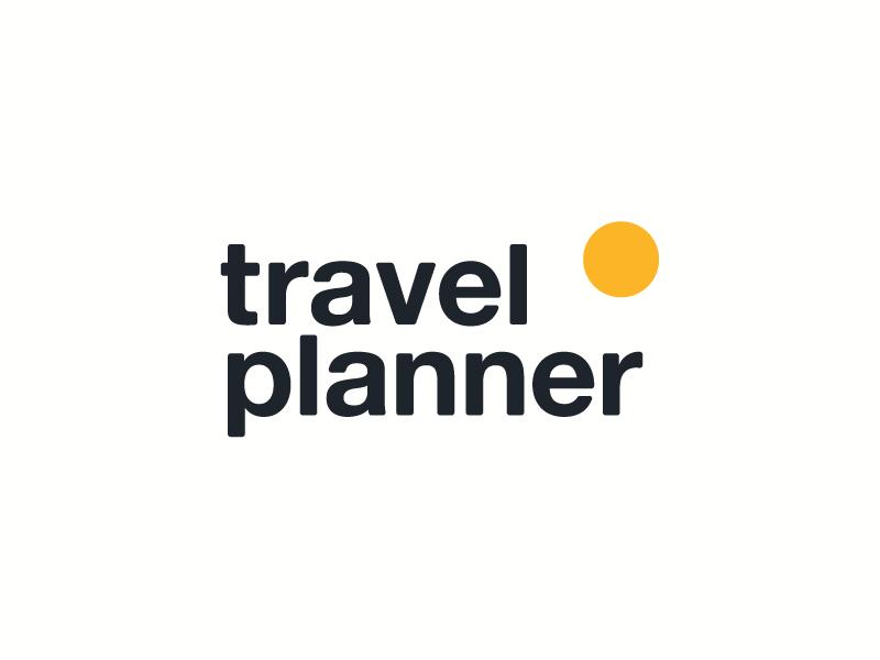 Travel Planner Identity yellow black identity proposal helvetica neue sun travel logo graphic design