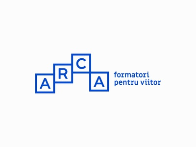 Arca Identity Proposal blue letter logo identity graphic design