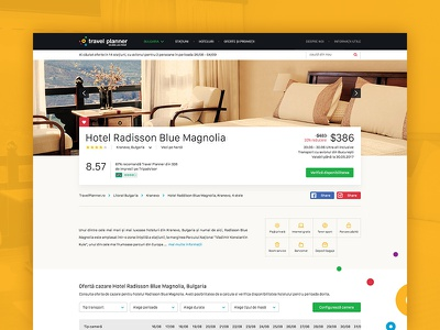 Travel Planner Landing Page yellow hotel page hotel travel ui web design user interface graphic design