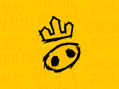 The King pattern black yellow pig king symbol graphic design