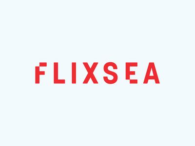 Flixsea Identity design movies pixel logotype typeface red identity logo graphic design