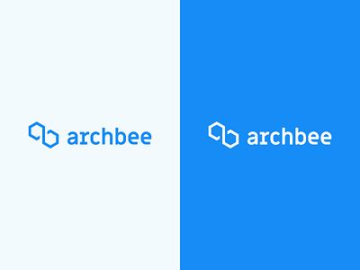 Archbee Logo branding design typography blue logo identity graphic design