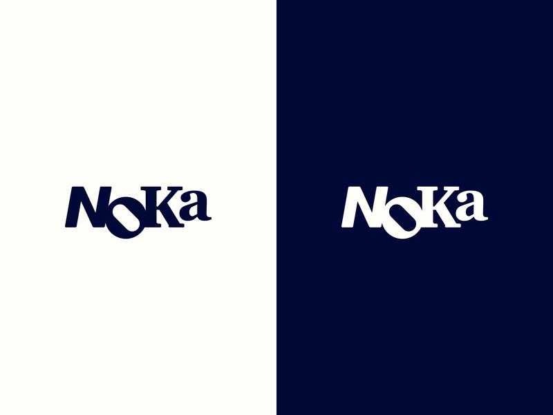 Noka Identity creative studio letters typefaces blue logo identity graphic design