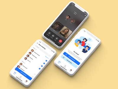 Voice Messenger App figma interface interaction ios mobile productdesign app design uiux