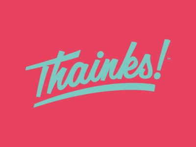 Type Logo Mark for Thainks!