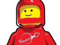 Red Lego Illustration