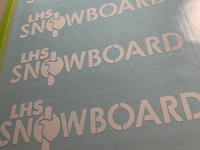 LHS Snowboard Team Stickers