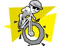 Illustration for a Mountain Bike Event