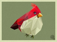 Poly Red Bird poly polygon red bird art illustration