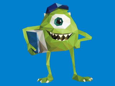 Poly Mike Wazowski (Monsters University)