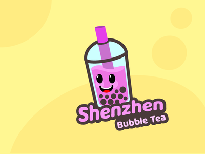 LogoCore - 08 - Shenzhen Bubble Tea shenzhen boba bubble tea mascot logo logo design logochallenge logodesign logo 30daylogochallenge logocore
