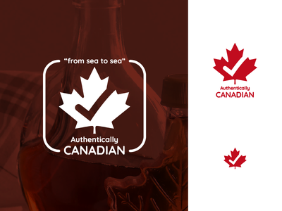 LogoCore - 17 - Authentically Canadian canada canadian authentically canadian logo design logo 30daylogochallenge logocore