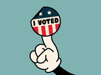Stick It to the Man! go vote 2020 election election day vote2020 visual design illustration sticker cartoon illustration votingart i voted vote