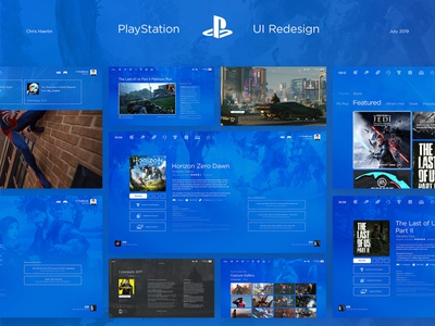 PlayStation UI | UX Redesign adobe after effects adobe indesign adobe illustrator adobe photoshop adobe xd interaction design sony ps4 user experience console typography art direction digital games branding playstation redesign user interface ux ui