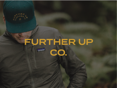 Further Up Co. apparel gold ferns trees woods lifestyle brand lifestyle embroidery hat