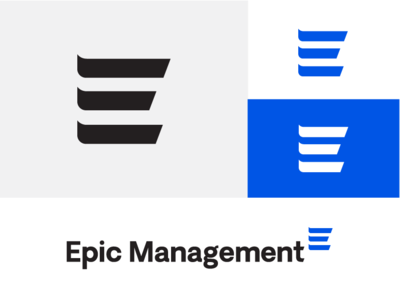 Epic management e three brand logo momentum epic