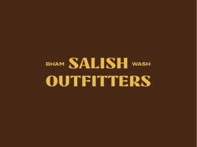 Salish Outfitters word mark outdoors pacific northwest salish