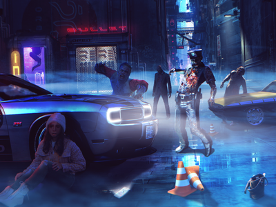 Zombie Punk blue adobe photoshop sci-fi gaming game adobe new manipulation photoshop design